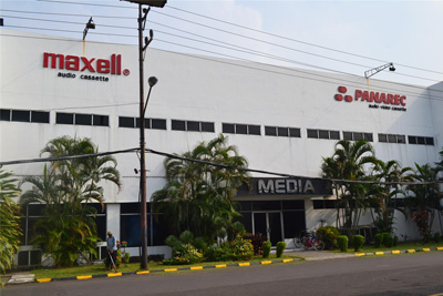 audio cassette maxell and panarec factory